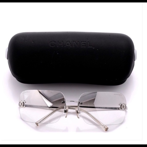 95974eece73 CHANEL Accessories - ❤️CHANEL Crystal CC Logo Silver Sunglasses w Case